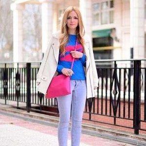 Hot Pink Danier Leather Crossbody Bags